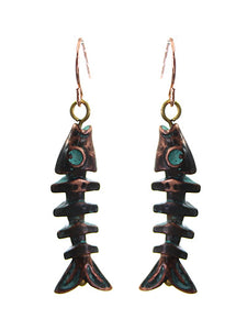 PATINA FISHBONE EARRINGS