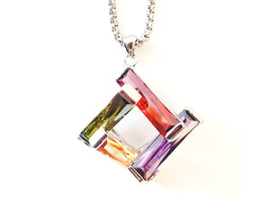 STACKED CUBIC ZIRCONIA NECKLACE