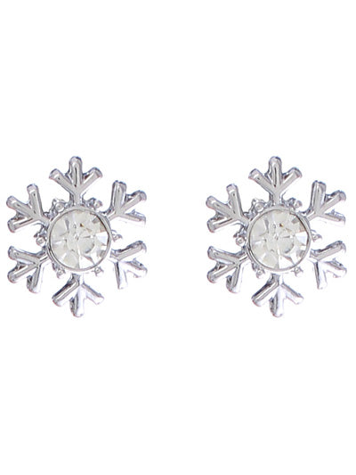 LET IT SNOW....SNOWFLAKE POST EARRINGS | SILVER