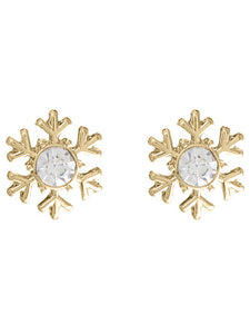 LET IT SNOW....SNOWFLAKE POST EARRINGS | GOLD