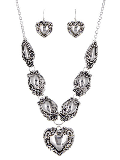 Antique Spoon Inspired Necklace Set - Lunga Vita Designs