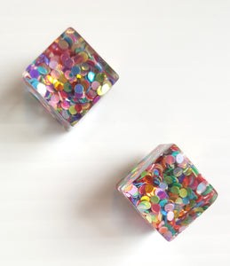 CONFETTI CUBE EARRINGS