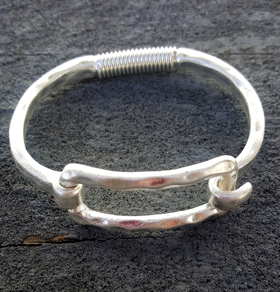 Rectangle Cuff | Worn Silver - Lunga Vita Designs