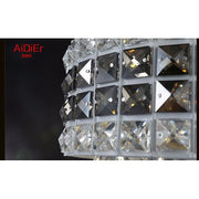 Modern Crystal Spiral Chandelier Flush Mount