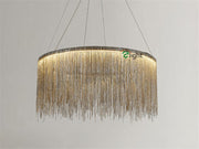 Tassel Style Pendant Light Silver Model / Dia40Cm Warm Light Effect Cord