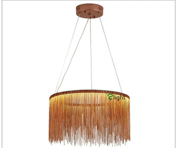 Tassel Style Pendant Light Gold Model / Dia40Cm Warm Light Effect Cord