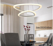 Modern Triangular Ringed Light Flush Mount