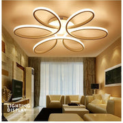 Modern Flower Shaped Chandelier Flush Mount