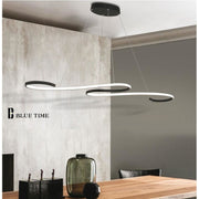 Modern Curved Pendant Chandelier (Various Options) Semiflush Mount