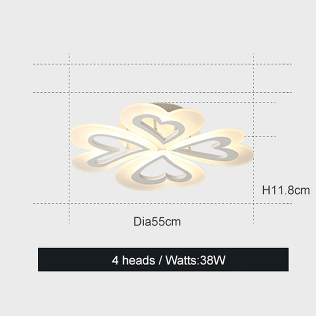 Modern Heart Shaped Ceiling Light (Various Options) White / Dia550Mm Brightness Dimmable Surface Mounted