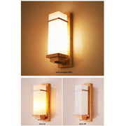 Modern Simple Solid Wooded Wall Light Flush Mount