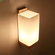 Wooden Wall Lamp (Various Options) Style A / Cold White Mounted