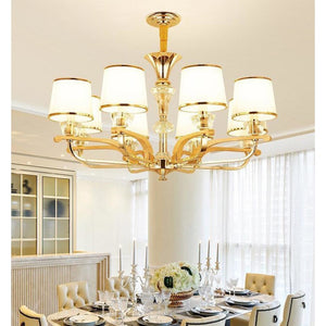 Classic Wood & Gold Color Chandelier