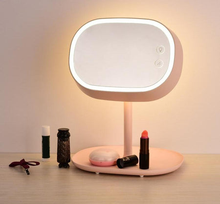 Rotatable Mirror Table Lamp Pink