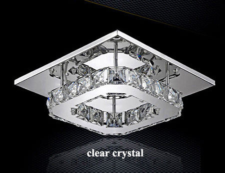 Modern Crystal Ceiling Lights (Various Options) Clear Crystal / Warm Light Effect Flush Mount