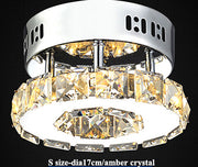 Modern Crystal Ceiling Lights (Various Options) S Size Amber Crystal / Warm Light Effect Flush Mount