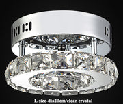 Modern Crystal Ceiling Lights (Various Options) L Size Clear Crystal / Warm Light Effect Flush Mount