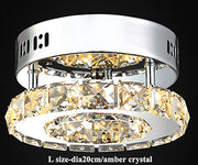 Modern Crystal Ceiling Lights (Various Options) L Size Amber Crystal / Warm Light Effect Flush Mount