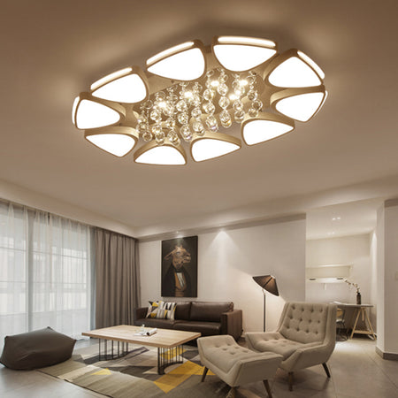 Modern Crystal And Led Ceiling Light Surface Mounted