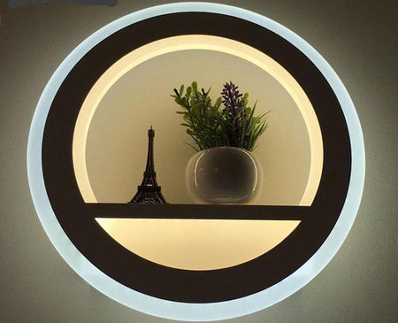 Modern Double Circle Wall Light Mounted