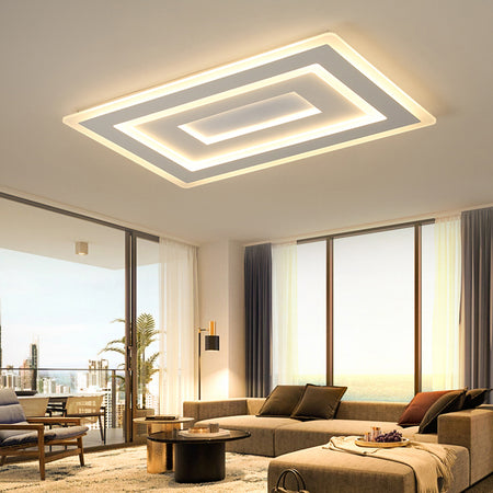 Modern Rectangular/square Fancy Led Ceiling Light (Various Options) Surface Mounted