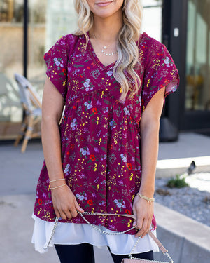 Flutter Sleeve Bloom Tunic
