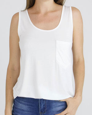 Perfect Pocket Tank - Ivory / XXS