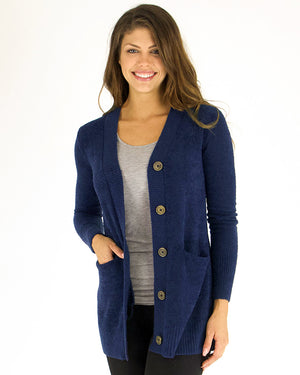 Bamboo Button Cardi by Grace and Lace