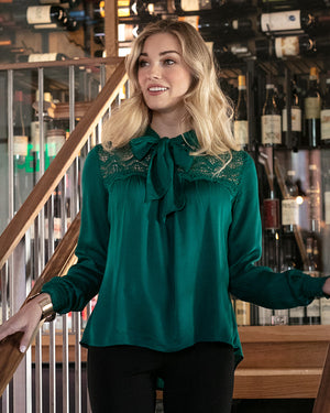 (**sale**) Bow & Tie Blouse by Grace and Lace