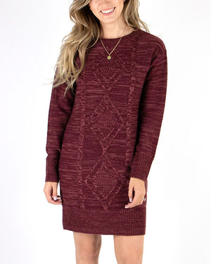 (**new item**) Cable Knit Sweater Dress