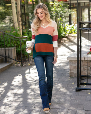 (**sale**) Colorblock Sweater by Grace and Lace