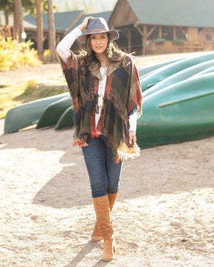 (**new item**) Dakota Faux Fur Poncho