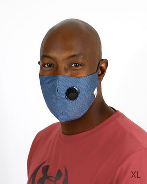 (**new item**) Double Layer 'Breathe Free' Mask with Respirator Valve and Nose Piece - 4 Sizes