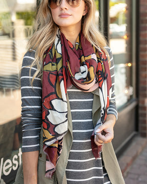 (**sale**) Fall Floral Scarf