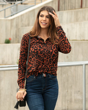 (**new color**) Favorite Button Up Top by Grace and Lace