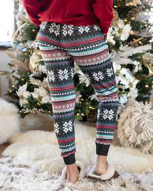 (**new color**) Holiday Snow Day Joggers