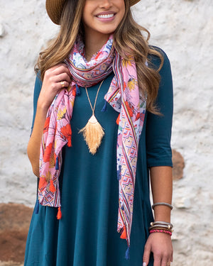(**new item**) Heirloom Blooms Lightweight Scarf