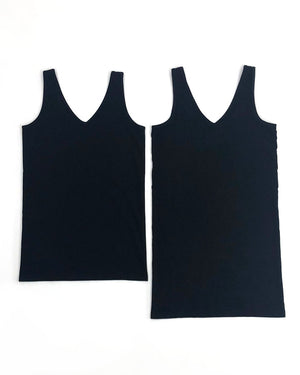 Perfect Fit V-Neck Tank in Solids - Original Long and Shorter Length