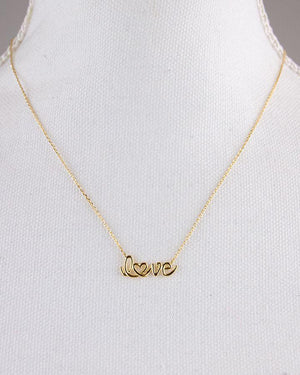 (**new item**) Script Love Necklace