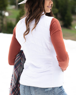 (**new color**) Slim Fit Puffer Vest by Grace and Lace