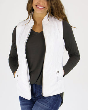 Slim Fit Puffer Vest by Grace and Lace