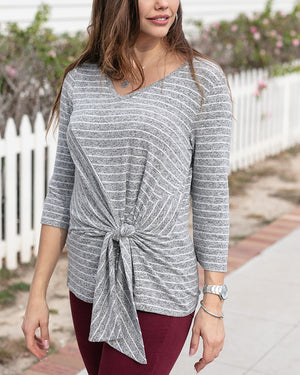 Snowday Tie Front Top by Grace and Lace