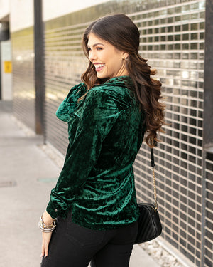 (**new item**) Tinsel Velvet Button Up by Grace and Lace