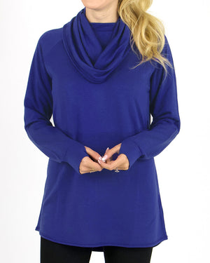 (**new item**) Ultra-Soft Cowl Neck Tunic by Grace and Lace