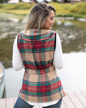 (**new item**) Winter Plaid Vest by Grace and Lace