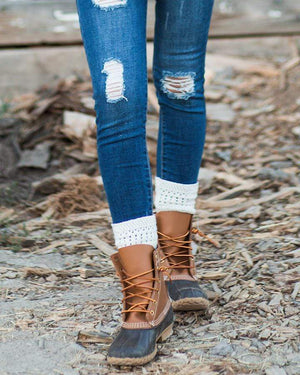 Alpine Knit Top Bootie Socks