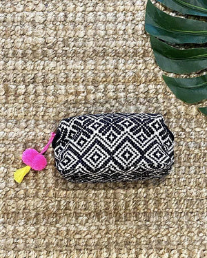 Makeup Bag - Black-White / One Size