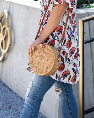 (**new item**) Circle Wicker Bag