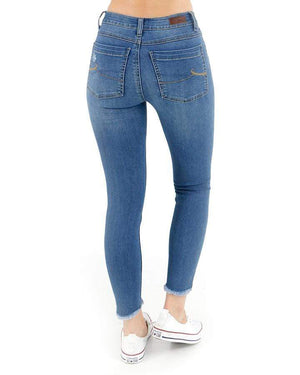 Cropped/Button Fly Jeggings