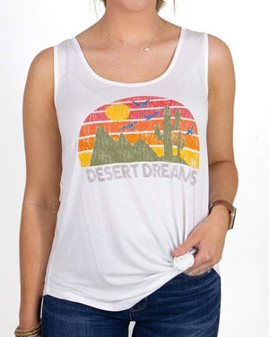 Desert Dreams Perfect Tank Graphic Tee -